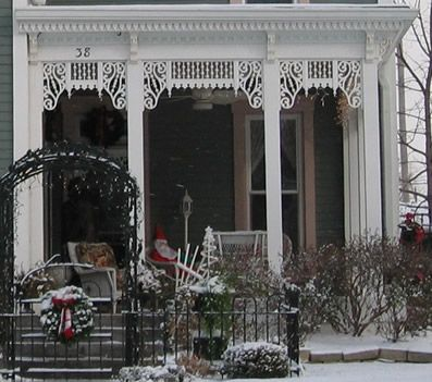 Lace like gingerbread trim on this porch porches for Architectural gingerbread trim