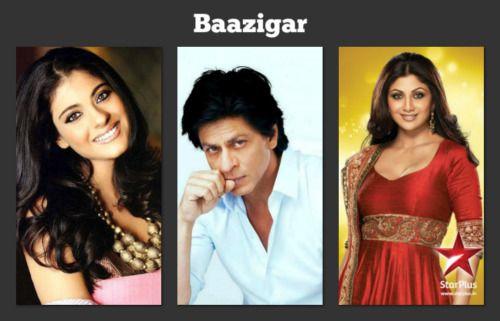 SRK,KAJOL,SHILPA - BAAZIGAR   Shahrukh Khan   Pinterest