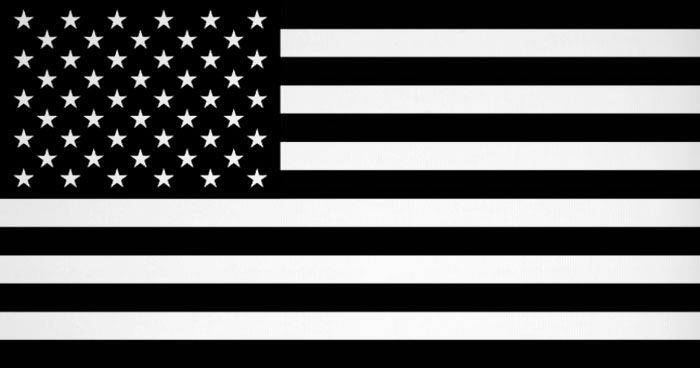 black white american flag meaning