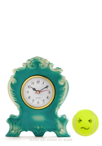 It's Never Too Ornate Clock in Teal
