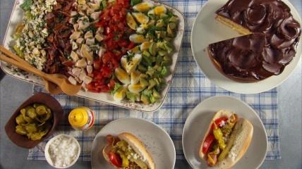 ... : All-American Recipes, Boston Cream Pie, cobb salad, club sandwich