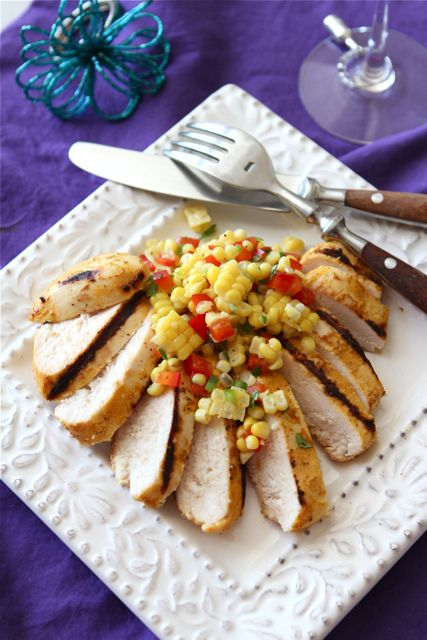 Grilled Curry & Kefir Marinated Chicken Recipe with Fresh Corn Salsa ...