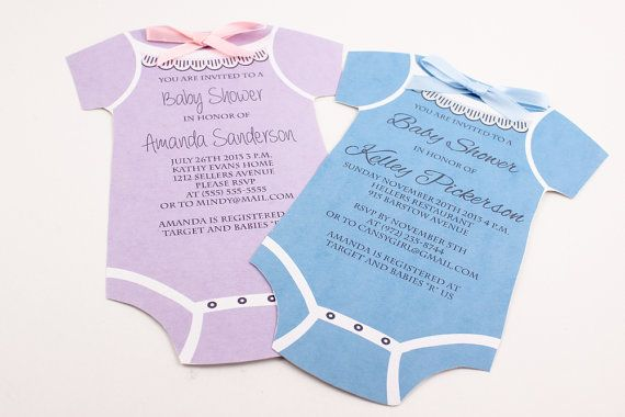 onesie baby shower invitations baby shower ideas pinterest