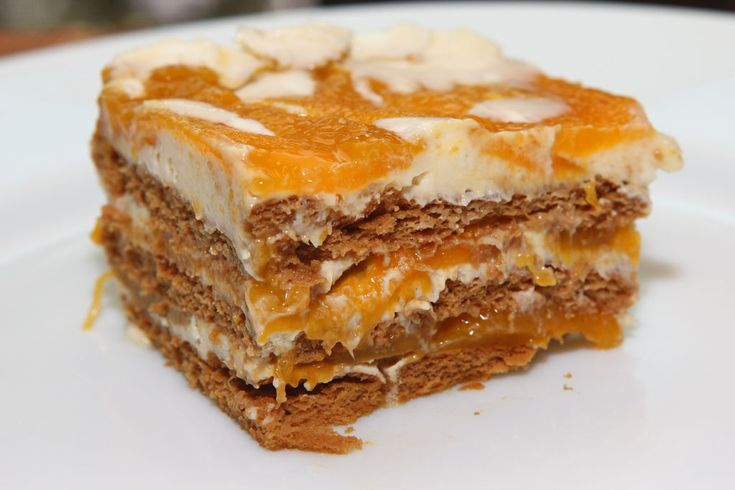 Mango float - ice box cake, with layers of graham crackers, condensed ...