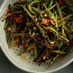 homemade harissa transforms charred green beans (or any grilled ...