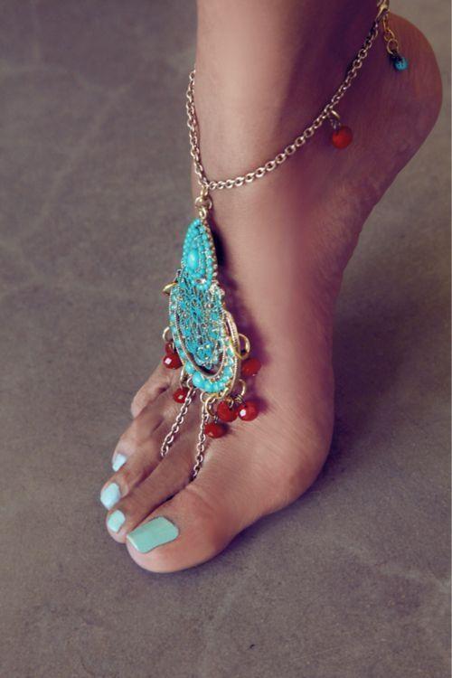 foot jewelry wedding