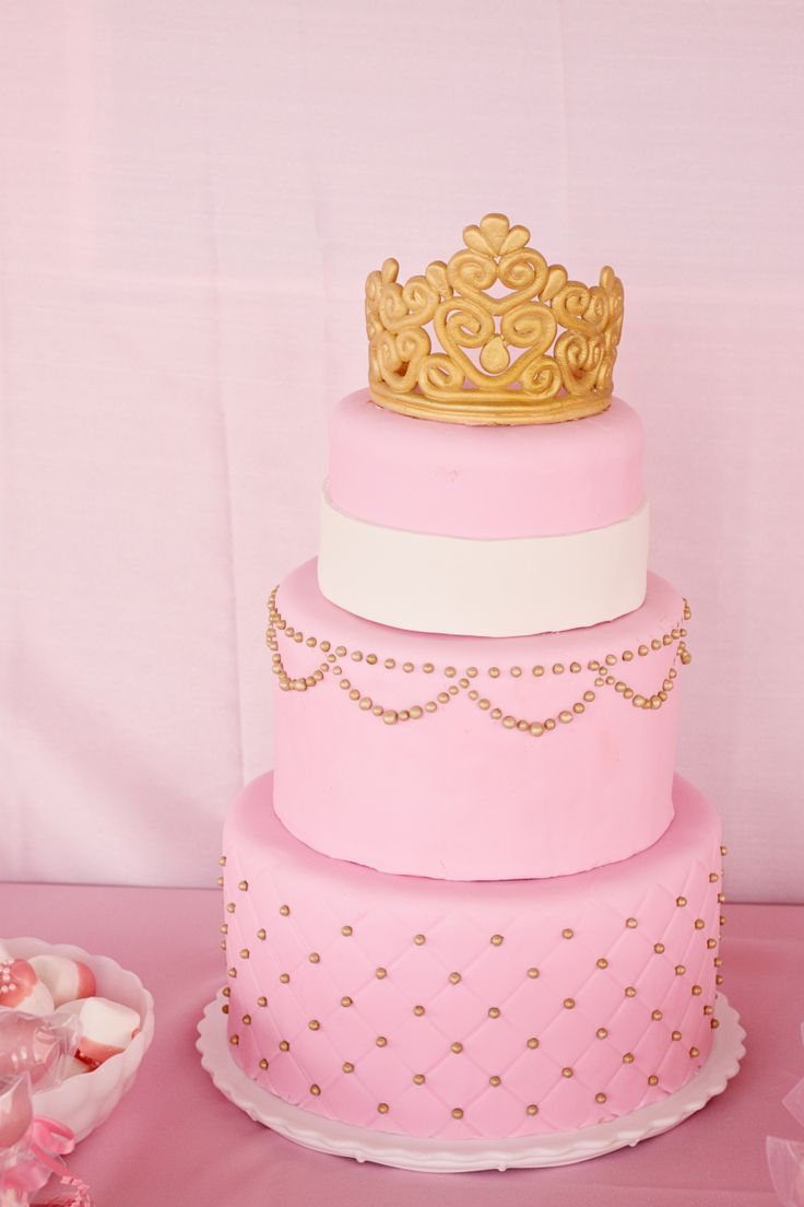 my princess 39 cake my baby shower pink gold white pinterest
