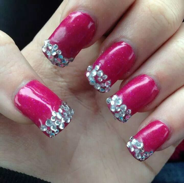 valentine acrylic nails designs
