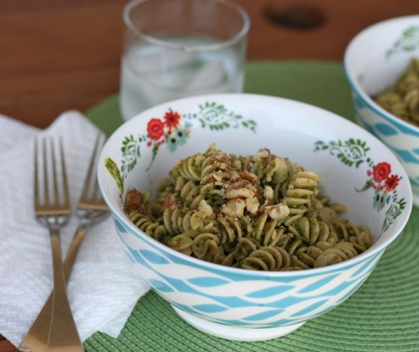 Pasta with Meyer Lemon and Arugula Pesto Sauce