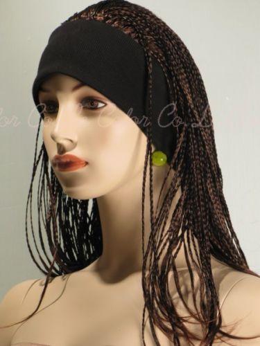 Janet D Dark Brown mix Micro Braids Reggae Style Headband Dread Lock