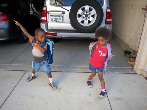 Kids doing the Bolt