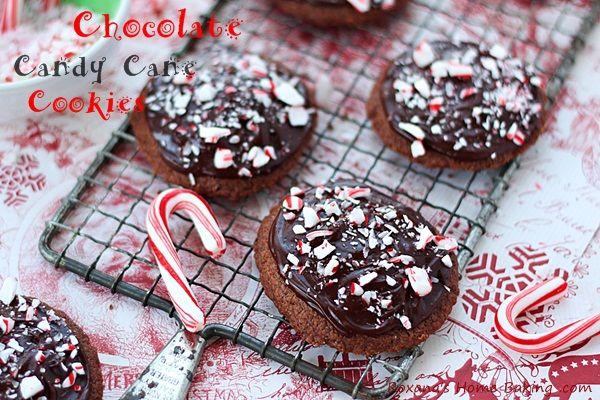 Chocolate candy cane cookies recipe #25recipestoXmas — Roxana's Home ...