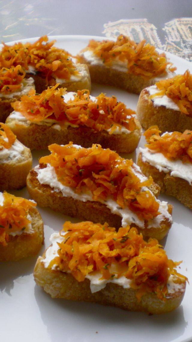 ... Carrots With Thyme And Goat Cheese Crostini Recipes — Dishmaps