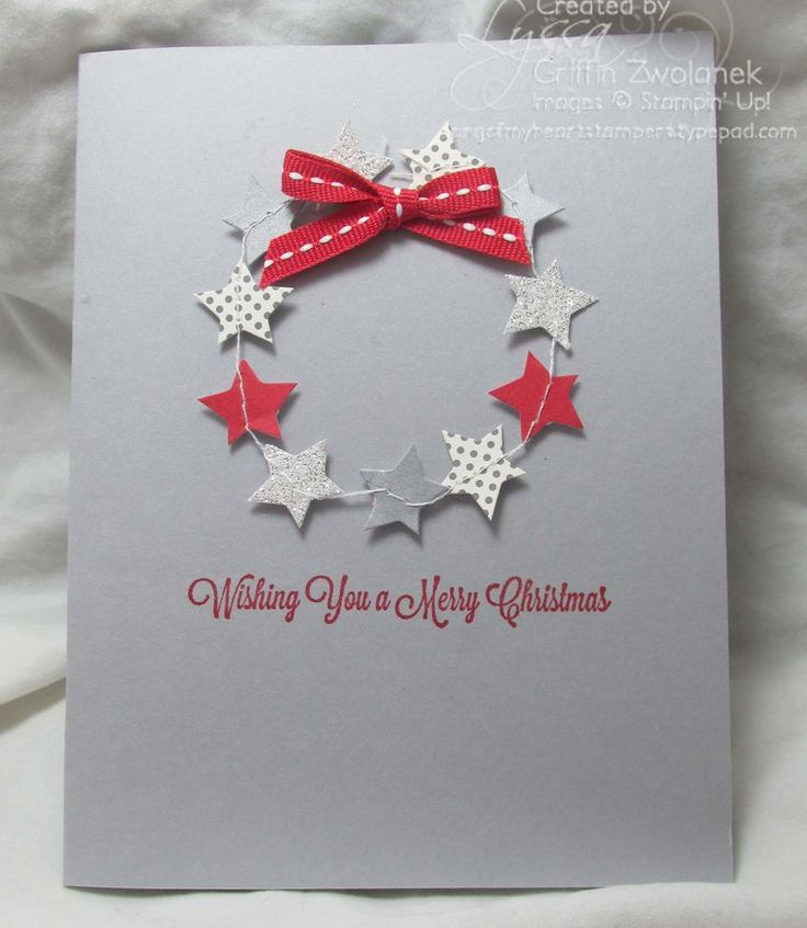 Fun card made with pieces of the Noel kit.