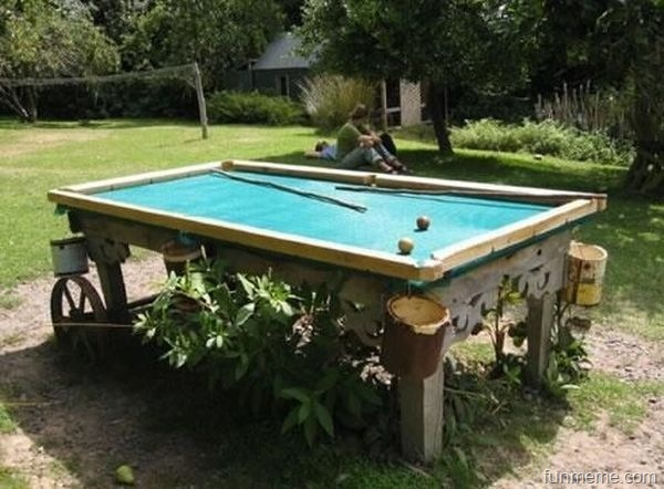 Outdoor Pool Table Back Yard Pinterest