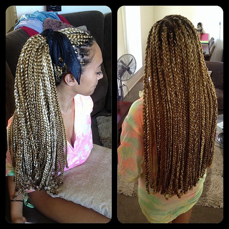 Full Head Crochet Box Braids : Full head braided Extentions