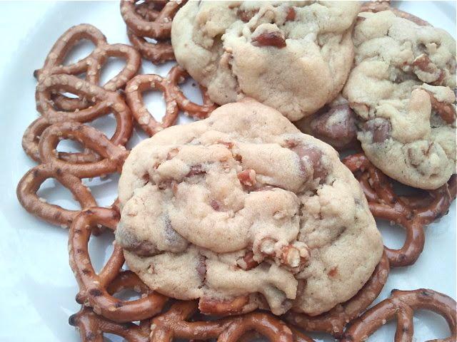 Chocolate Chip & Pretzel Cookies | Cookies | Pinterest
