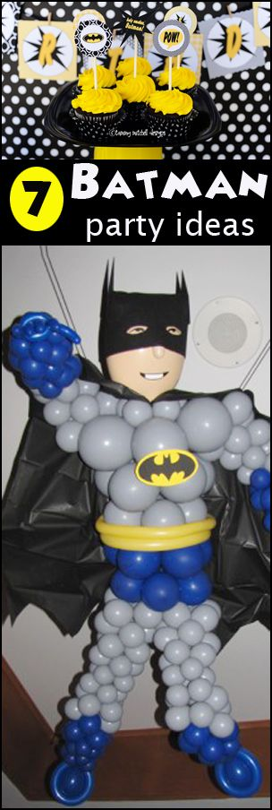 7 Batman party Ideas-good for a kids birthday party or boy baby shower