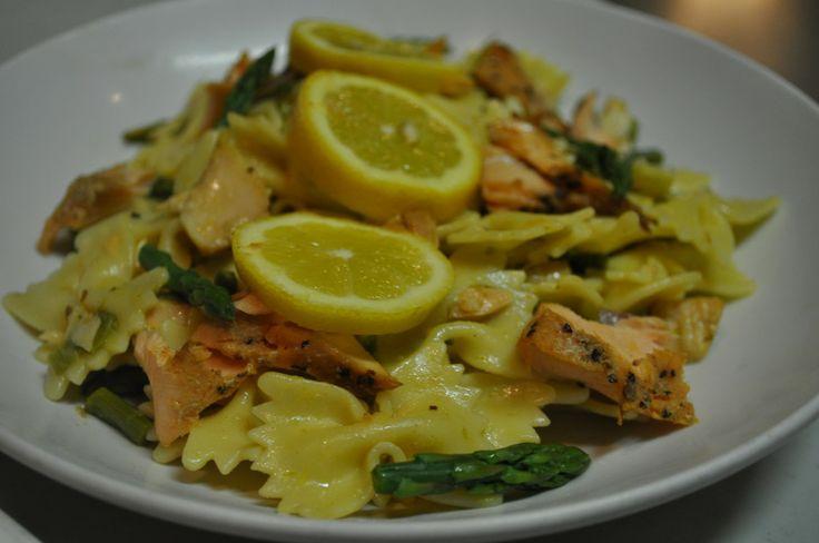 Ingredient Salmon Pasta Salad | Dining with Alice | Pinterest