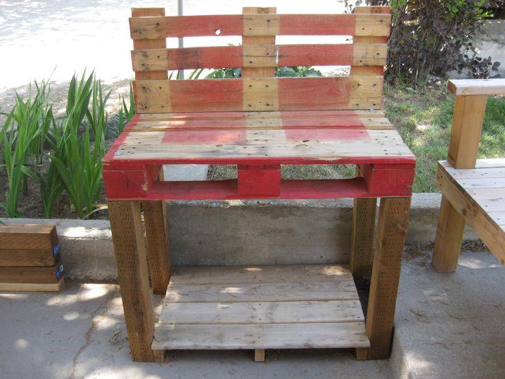 garden planting table pallet furniture creations pinterest