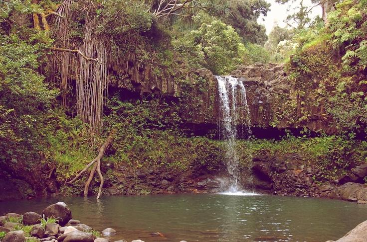 Remote Waterfall - Maui, Hawaii - Photo