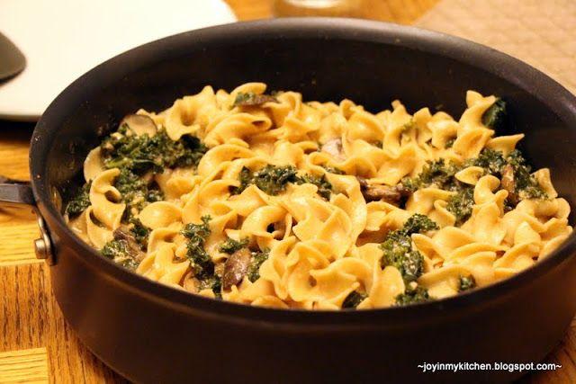 Finding Joy in My Kitchen: Mushroom & Kale Stroganoff