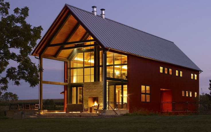 Wisconsin timber frame barn modern home pinterest for Contemporary home builders wisconsin