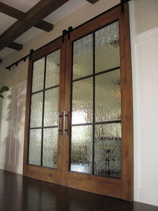 Barn door french doors one day pinterest for Sliding doors that look like french doors