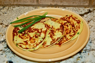 summer squash and chive pancakes for national pancake day! from gina's ...
