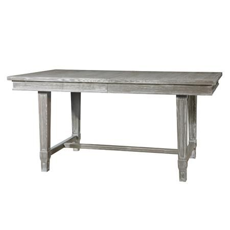 Wood Dining Table Available In 2 Colors Gray White
