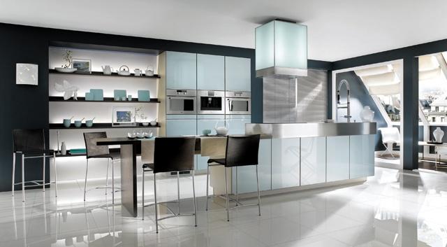 cusine bleu acier  Dans la cuisine  Pinterest