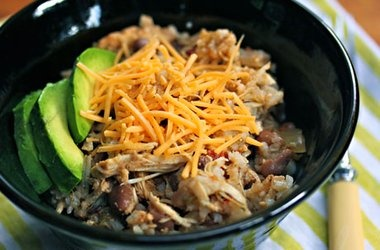 Slow Cooker Chicken and Pinto Bean Burrito Bowl — Punchfork