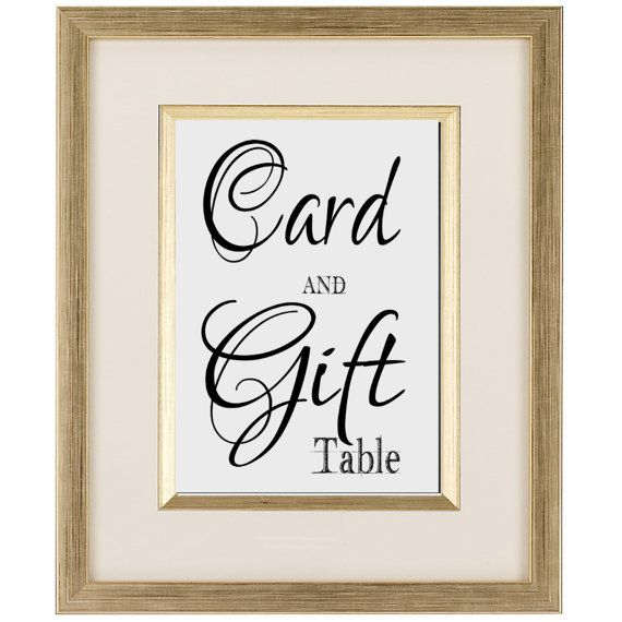 Wedding Gift Card Sign : Wedding Card and Gift Table Sign --DIY bride printable instant ...