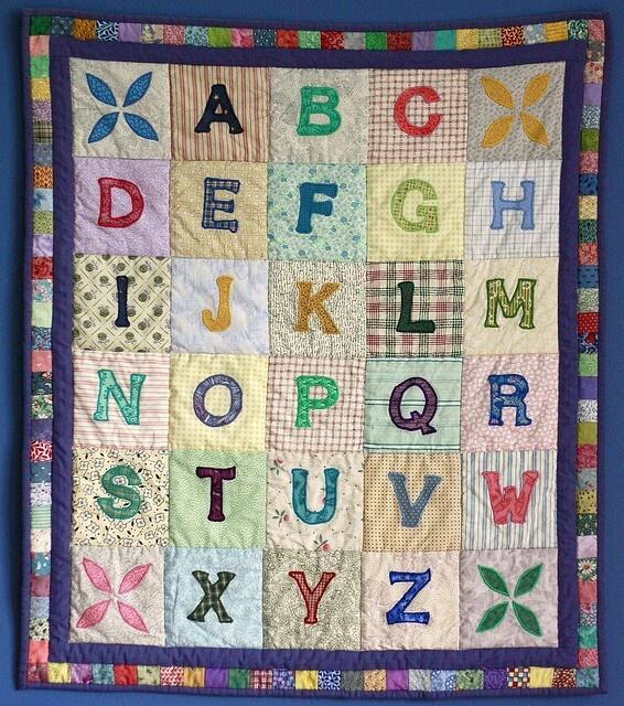 Quilt Patterns With Letters : Alphabet quilt Quilts - Children s Quilts Pinterest
