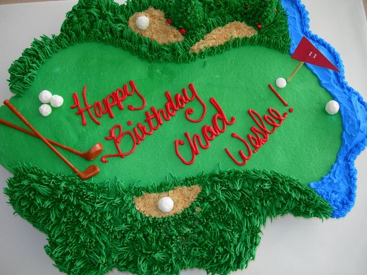 Golf course cupcake cake For Lori Pinterest