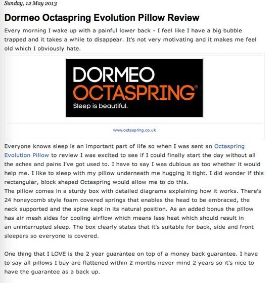 octaspring evolution memory pillow bed mattress sale. Black Bedroom Furniture Sets. Home Design Ideas