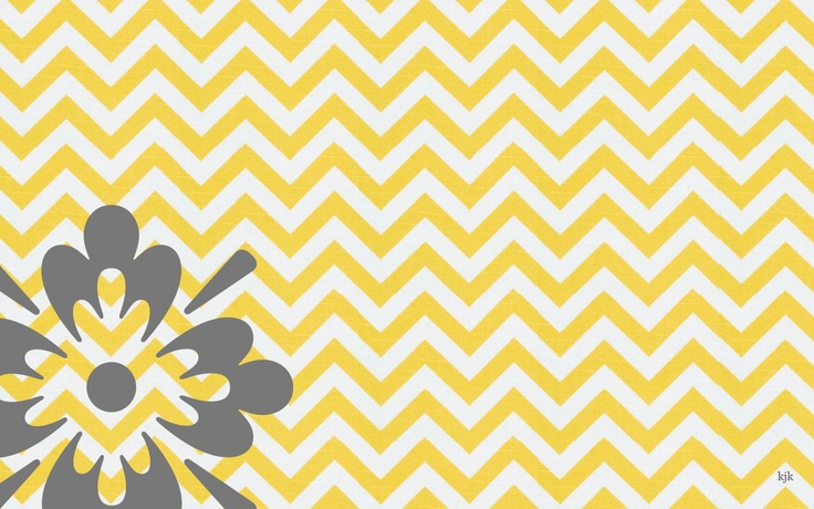 gallery for yellow and gray chevron background