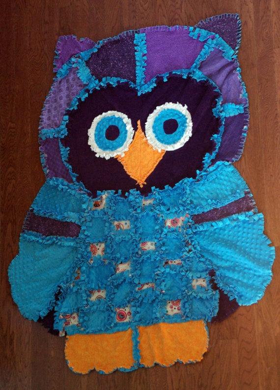 Rag Quilt Owl Pattern : Owl Rag Quilt! I LOVE OWLS Owls & hooty stuff... Pinterest