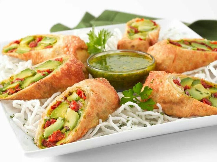 Avocado Egg Rolls~ | Food - Side Dishes | Pinterest