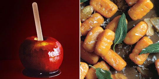 Red Wine Caramel Apples and Sweet Potato Gnocchi — Gourmet October ...