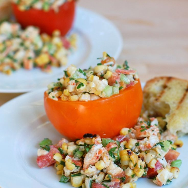 Corn, Tomato, And Lobster Salad Recipes — Dishmaps