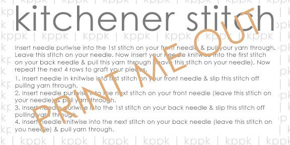 Crochet Stitches Cheat Sheet With Pictures : Kitchener Stitch Cheat Sheet Crochet and Knitting Pinterest