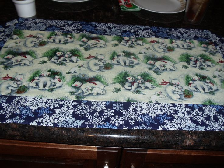 Winter 10 minute table runner my crafts pinterest for 10 minute table runner video