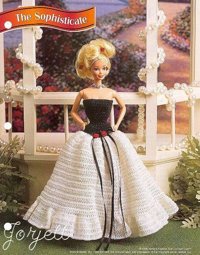 The Sophisticate, Annies crochet patterns fit Barbie eBay, Crafty ...