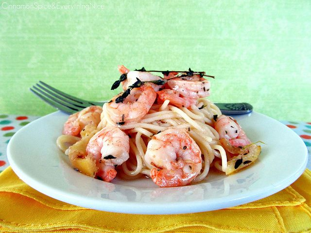 Roasted Lemon Garlic Herb Shrimp w/ Spaghetti by ~CinnamonGirl, via ...
