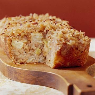 Apple Cake with Hot Coconut Brown Sugar Topping