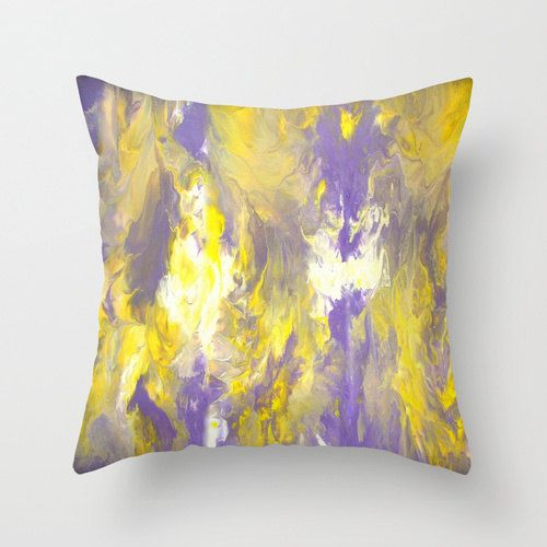 Purple and yellow pillow - Spring finds - Pillow cover