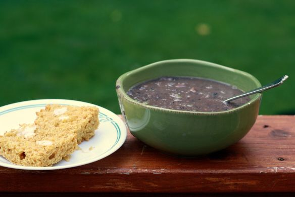 Brazilian Black Bean Soup & Basic Corn Bread-- Moosewood