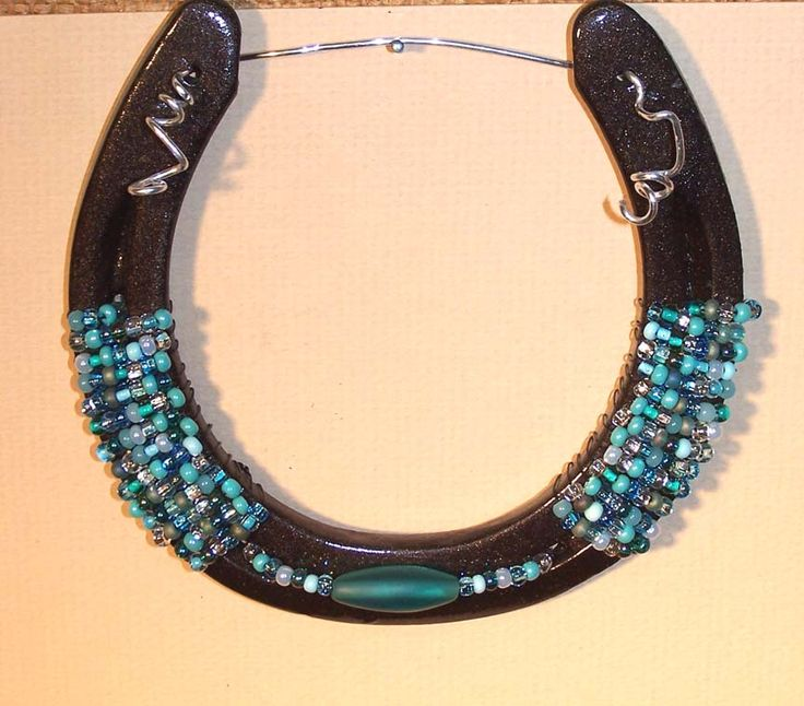Handcrafted Horseshoe Good Luck Wall Hanging Very Cool