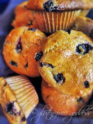 GF sour cream blueberry muffins | Food | Pinterest